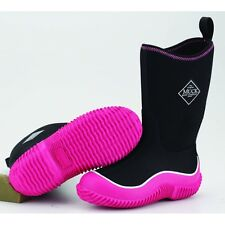 The Muck Boot Company Kids Hale Pink/Black, The Original Neoprene lined wellie