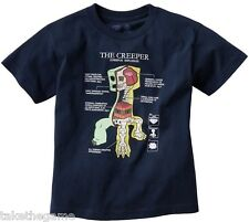 Official Licensed MINECRAFT THE CREEPER ANATOMY KIDS T-SHIRTS - BNIP Choose Size
