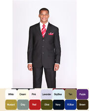 Mens' 4 button single Breasted Suit and Plaided Front Pants burgundy color  #902