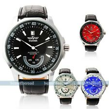 Luxury 3 Colors Dial Men's Auto Mechanical Mens Date Man's Gift Analog Man Watch