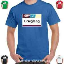 """Still Game """"SPT Rail Craiglang Sign"""" T-Shirt - 5 Colours to choose from!"""