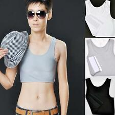 Black& White Breathable Strapless Chest Breast Binder Trans Les Tomboy Cosplay