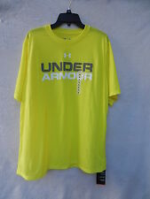 Under Armour Loose Heat Gear College Word with Logo Graphics tee shirt 1249218