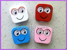 Cute eye design Contact Lens Case with Soaking box 4 Colors for Choosing