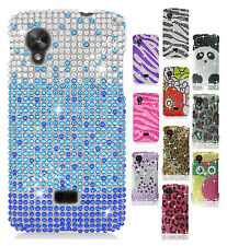 For LG Nexus 5 D820 Crystal Diamond BLING Hard Protector Case Snap Phone Cover