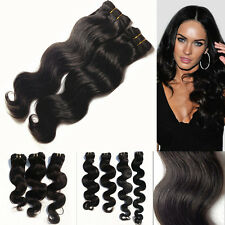 """AAAA Body Wave Weaving Hair Remy Indian Hair Extensions Full Head 12""""-30"""""""