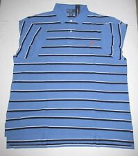 MENS POLO RALPH LAUREN BIG & TALL BLUE STRIPE POLO SHIRT  2XB 3XB XLT NEW