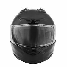 Fuel Helmets Black DOT-approved Full Face Helmet with Chin Strap