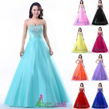 New Strapless Sweetheart Long Prom Dress Formal Party Dresses Ball Gown in Stock