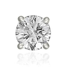 Finesque Sterling Silver 1/4 to 2ct TDW White Diamond Single Stud Earring