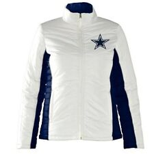 Dallas Cowboys Ladies Full Zip Touchdown Quilt Jacket - White