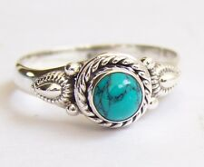 925 Sterling Silver Ethnic Ring 7mm Turquoise: Allure