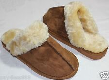 Brand New Women's Soft Fur Lined Warm Comfortable Slipper Shoes Tan Color