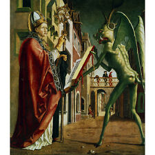 Michael Pacher 'The Devil presenting St Augustine with the book of vices' Canvas