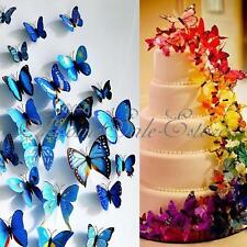 Lot 12-48pcs 3D Artificial Butterfly Pin Clip Party Wedding Supplies Decoration