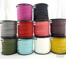 10colors 3mm Faux Suede Cord Leather Jewelry Making/Beading/Thread flat DIY Lace