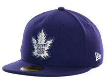 Toronto Maple Leafs Vintage Hockey New Era 5950 NHL FlatBill Brim Fitted Hat Cap