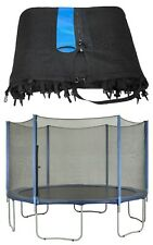 Trampoline Replacement Enclosure Safety Net - Installs Outside of Frame