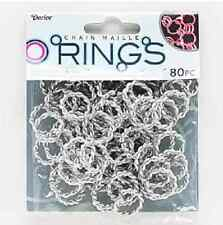 80-120 Aluminum Jump Maille Rings, Jumprings- Twisted- Silver,Black/White,Grey