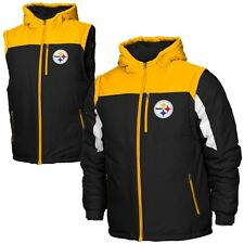 Pittsburgh Steelers Youth Heavyweight Full Zip Jacket - Black