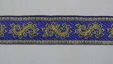 "3 Yd Jacquard Trim 1.10"" wide Woven Border Sew Ribbon T737"