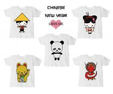 CHILD'S CHINESE NEW YEAR T-SHIRT ASIAN ORIENTAL PRINT DESIGN BOYS GIRLS CLOTHING