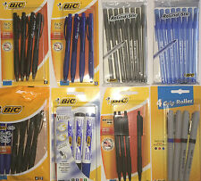BIC PENS-GRIP,ROLLER,GEL,BALLPOINT,ATLANTIS,Bu3 black,blue,red,green colour ink