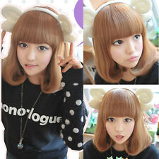 Women Full Wigs Medium Long Curly Wavy Short Hair Wig Colorful Cosplay Party Wig