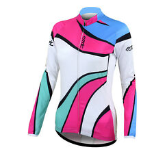New Women's Bicycle Cycling Outdoor Long Sleeve Jersey Bike Shirts Jacket S-XL