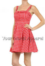 BEAUTIFUL DARLING RED WHITE CIRCLES DRESS PINUP MODCLOTH STYLE VINTAGE RETRO