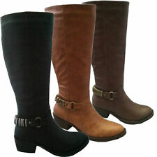 BRAND NEW LADIES/WOMEN'S MID CALF CASUAL WEAR ZIPPER WINTER BOOTS UK SIZES 3-8