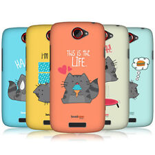 HEAD CASE DESIGNS WILBUR THE CAT PROTECTIVE HARD BACK CASE COVER FOR HTC ONE S