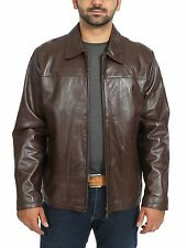 BEST SELLER classic zip up leather jacket for mens James Brown gents box coat