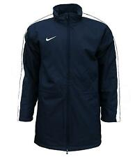 New Nike Boy's Swoosh Tick Team Long Winter Coat Jacket Football Bench navy 2055