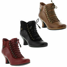 Hush Puppies Vivianna Womens Shoes Leather Heeled Ankle Boots Sizes UK 4 - 8