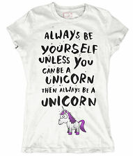 ALWAYS BE YOURSELF UNLESS YOU CAN BE A UNICORN MEN WOMENS KIDS FUNNY T SHIRT TOP