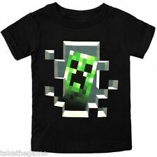 Official Licensed MINECRAFT CREEPER INSIDE KIDS T-SHIRTS - BNIP - CHECK SIZE!