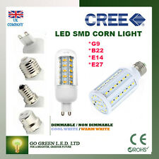 B22d E27 E14 G9 10W 12W Dimmable SMD LED Corn Light Bulb Lamp Warm Cool White ES