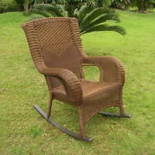 International Caravan San Tropez Resin Wicker/ Aluminum Porch Rocker