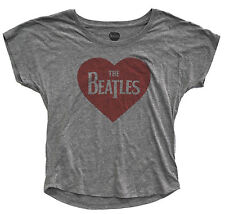 Beatles Heart Crop Top Official Licensed Authentic Womens Shirt