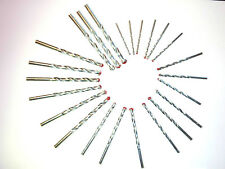 MASONRY QUALITY DRILL BITS 3,4,5,6,7,8,9,10MM BRICK/CONCRETE/STONE/WALL PACK OF