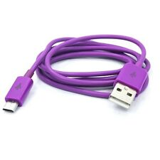 PURPLE USB DATA SYNC LINK CHARGING CABLE POWER CORD WIRE for VERIZON CELL PHONES