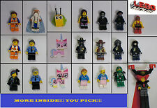 LEGO MOVIE Minifigures U Pick!!!  Vitruvius Lord Business Emmet  Cop Wyldstyle+