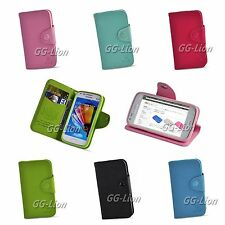 Leather Stand Flip Wallet Card Case Cover For Samsung Galaxy Core i8260 , i8262