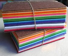 """New 6"""" 12"""" PACK Acrylic Blend Felt Non-woven Fabric SQUARES 10 squares Mix Color"""