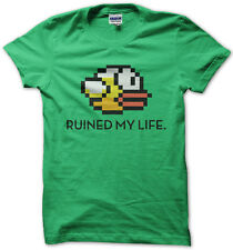 FLAPPY BIRD RUINED MY LIFE MENS WOMENS KIDS FUNNY T SHIRT TOP NEW S - XXL