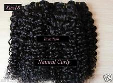 Indian & Brazilian Remy Curly hair extensions Weave natural color weft Bundle