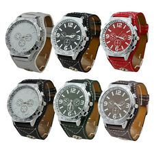Hot Men's Gift Choice Big Case Design Fashion Quartz Battery Wrist Watch Watches