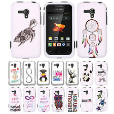 FOR SAMSUNG GALAXY RUSH M830 Vintage Deer HARD Rubberized Protector Cover
