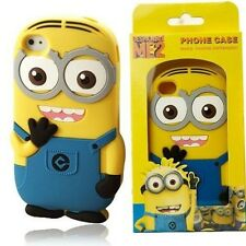 3D Cartoon Despicable Me 2 Minion Rubber Case for iPhone 5/5S w/ PACKAGE USA